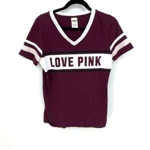 PINK Victoria's Secret Love Pink Campus Shirt